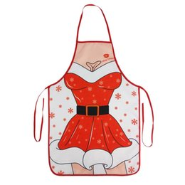 sexy christmas aprons NZ - Adult Christmas Sexy Cosplay Costumes Santa Claus Plush Toys Bachelor Party Erotic Funny Dress Apron Valentine's Day Gifts