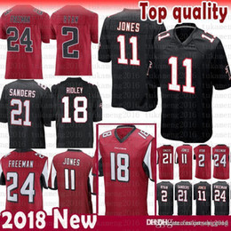 Wholesale new Atlanta Falcons Matt Ryan Julio Jones Ridley Jersey Limited Deion Sanders Devonta Freeman Jerseys mens Color Rushred black