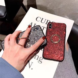 $enCountryForm.capitalKeyWord Australia - Crystal Phone TPU Case For iPhone 6 7 8 X Xr Xs Xs Max With Ring Holder Cold Crystal Phone Cover