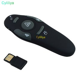 wireless powerpoint presenter pointer Australia - Wireless Presenter with Red Laser Pointers Pen USB RF Remote Control PPT Powerpoint Presentation Page Up Down 2.4 GHz 2.4GHZ fast shipment