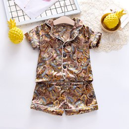 baby hair thinning NZ - 2020 Childrens Pajamas Summer Baby Pajamas Set Thin Home Clothes Cotton Baby Air Conditioning Clothes a Generation of Hair
