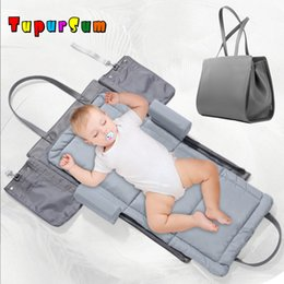 portable baby travel cribs 2019 - Big Portable Baby Bassinet Cradle Nest Infant Crib Travel Bed Toddler Carrycot Cotton Mattress Bumper Foldable Mummy Bag