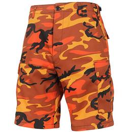 Discount camouflage short pants for men - MORUANCLE Fashion Men's Hi Street Cargo Shorts With Multi Pockets Streetwear Hip Hop Tactical Camouflage Short Pant