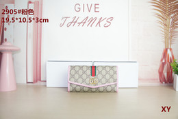 Three fold walleTs online shopping - 2019 GUCCI Ladies Multi Wallet Multi Card Wallet Women fashion Purse Three Fold Long Style Card Bag Holder Wallet