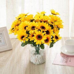 $enCountryForm.capitalKeyWord Australia - 29 cm length 7 branch sunflower flower fake silk flower artificial flower for wedding diy holiday Party decoration home room decor -38
