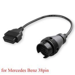 $enCountryForm.capitalKeyWord Australia - OBD2 Cable for Mercedes Benz 38PIN OBD Connector MB 38-16PIN Diagnostic Cable Auto Connector 38 PIN Cable Adapter for Benz38