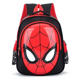 Character Backpacks Australia - 2018 3D 3-6 Year Old School Bags For Boys Waterproof Backpacks Child Spiderman Book bag Kids Shoulder Bag Satchel Knapsack