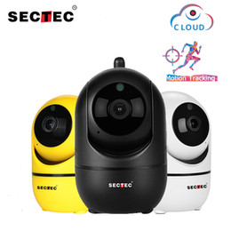 network camera android UK - SECTEC 1080P Cloud Wireless IP Camera Intelligent Auto Tracking Of Human Home Security Surveillance CCTV Network Wifi cam