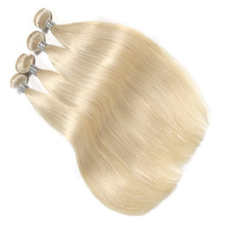 Platinum Product Australia - New Product Platinum Blonde Color Straight Hair Bundles 10-30 Inchs Brazilian Human Hair Weave Bundles 6a Unprocessed Double Weft Hair