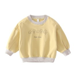 Wholesale Children s Spring Autumn Long Sleeved Clothes Cute Baby New Cartoon Korean Sweater Boys Round Neck Cute Sweatshirt Clothing