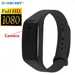 Discount used hdd - micro cam SMARCENT C11 Smart Bracelet HD 1080P Mini Camera Wristband 14.2 Million Pixels Lens Camera Wearable Device Mic