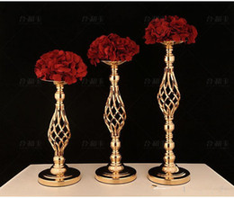 homes decorations photos NZ - Home Crafts Metal Vase Hotel Wedding Table Centerpices Decoration Iron Flower Vase Flower Holder T-Stage Road Lead Photo Props Metal Stand