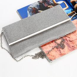 Discount handmade lady bags - New fashion diamond evening bag handmade envelope bags lady party bag clutch