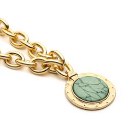 Necklaces Pendants Australia - European and American accessories Round Necklace Simple original stone pendant Necklace Handcrafted Pendant Accessories for men and women Ne