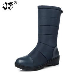 Black Platform Snow Boots Australia - Women Half-knee Snow Boots Rubber Sole Round Toe Platform Warm Fur Shoes Winter Ladies Footwear Bootas Mujer jki90
