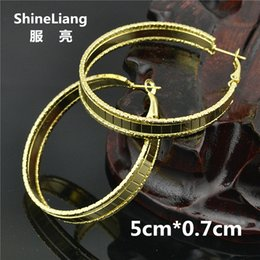 ec40ff879 Hoop Earrings for women Fashion jewelry Big Circle Gold silver loop  Exaggerated personality Youth students Girls Ladies Earrings