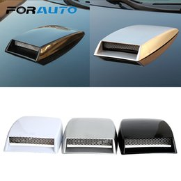 $enCountryForm.capitalKeyWord Australia - FORAUTO Side Vents Decorative Car Stickers Air Flow Intake Scoop Turbo Bonnet Vent Cover Car Styling Universal