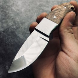 $enCountryForm.capitalKeyWord Australia - High Quality Hunting Knifes Wood Handle Survival Tactical Fixed Knife Camping North American Straight Knife with Holster