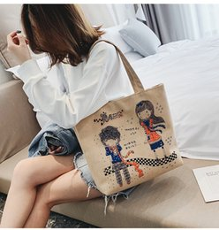 $enCountryForm.capitalKeyWord Australia - Lucky2019 Figure Cartoon Canvas Cloth Bag You Women's Single Shoulder Backpack Woman