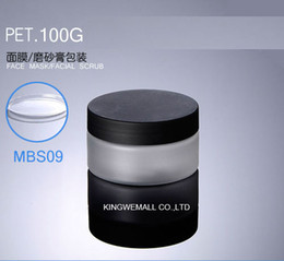 Plastic Lids For Jars Australia - Wholesale 300pcs lot Capacity 100g 100ml Empty PET Plastic Frosted Cream Jar with Black Lids For Cosmetic Packaging GBS03