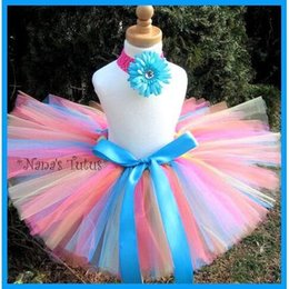 $enCountryForm.capitalKeyWord Australia - New Girls Flower Tutu Skirts Infant Baby 100% Handmade Fluffy Ballet Tutus Pettiskirts with Ribbon Bow and Headband Kids Clothes