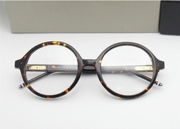 vintage prescription glasses NZ - 2020 High-quality TB500 glass retro-vintage big-round frame pure-plank with full-set case prescription galssses freeshipping
