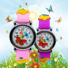 simple boys gift NZ - Dropshipping Cartoon Butterfly Watch for Children Kids Watches Fashion Simple Child Students Clock for Boys Girls Christmas Gift