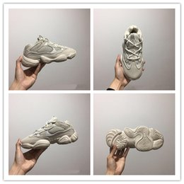 Discount new moon shoes - 2019 New Salt Wave Runner 500 Blush Desert Rat 500 Super Moon Yellow Running Shoes Kanye West Mens Women Sneaker Sports