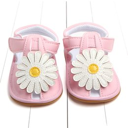 $enCountryForm.capitalKeyWord Australia - Kids Girls Sandals Summer Sunflower Baby Girl Sandals Shoes Soft soled Anti Slip For Children Kids Toddler Newborn walking shoes