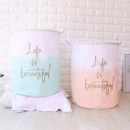 $enCountryForm.capitalKeyWord Australia - 40cm*50cm Simple style Storage Bags folding waterproof fashion laundry basket dirty clothes basket Fabric storage bucket