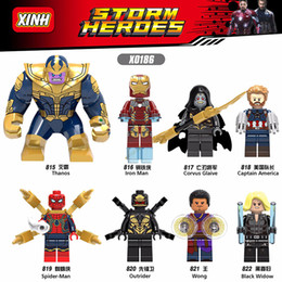 Guardians Galaxy buildinG blocks online shopping - Marvel Super Heroes legoings Infinity War Thanos Guardians of Galaxy Spider iron man Avengers THOR Building Blocks Toys Figures