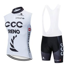 $enCountryForm.capitalKeyWord NZ - summer Hot Sale New CCC Men cycling Jersey Set bicycle sleeveless shirt bib shorts set quick dry bike clothing racing sportswear Y021602