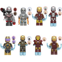 Iron Man Mini Toys NZ - Avengers Tony Stark Scuba Iron Man War Machine Mark 1 5 7 Building Block Brick Mini Toy Figure for children