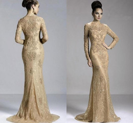 $enCountryForm.capitalKeyWord NZ - 2019 Cheap Mother Off Bride Dresses Mermaid Jewel Neck Long Sleeves Gold Lace Appliques Beaded Plus Size Wedding Guest Dresses Mother Dress