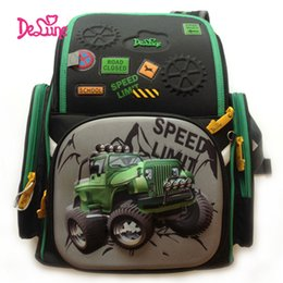 $enCountryForm.capitalKeyWord Australia - Delune Children Burden Reducing Primary School Bag 3D SUV Car Print Orthopedic SCHOOL School Backpack Mochila Escolar for Boys