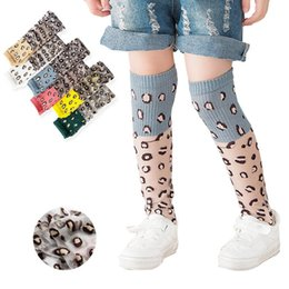 leopard sock NZ - Children Soft Crib Leg Warmer Infant Baby Girl Socks Leopard Print Girls Socks Breathable Kids Long Socks