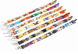 id ball UK - New high quality 20pcs Dragon Ball Z key lanyards id badge holder keychain straps for mobile phone Free Shipping