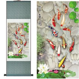 $enCountryForm.capitalKeyWord Australia - Fish Painting Silk Painting Traditional Art Chinese Painting Fish Reward Printed Painting2019061812