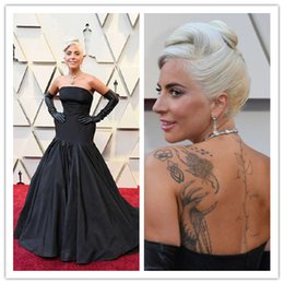 cff365ac071 Lady Gaga Oscar 2019 Red Carpet Dress Black Backless Evening Dresses Runway  Strapless Fashion Red Carpet Celebrity Dresses Formal Prom Dress
