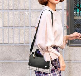 Bags For Cell Phones Christmas NZ - New Plaid Tote Shoulder Purses For Girls Casual Female Luxury Small Bag Ladies Cell Phone Pocket Women Crossbody Korean Style Messenger bag