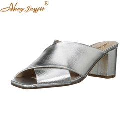 Slippers Summer Shoes Adult Australia - Nancyjayjii Woman shoes Adult Slippers Silver Solid Wedges High Square heel Indoor Summer Basic Casual Fashion Leisure Classic