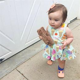 $enCountryForm.capitalKeyWord Australia - Cute Toddler Infant Baby Girls Cotton Sleeveless Ice Cream Print Ruffles Mini Dress Party Wedding Pageant Dresses Sundress 0-4Y