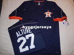 cool base jersey cheap Australia - Cheap baseball ha #27 JOSE ALTUVE COOL BASE Pullover shirt Jersey NEW Mens stitched jerseys Big And Tall SIZE XS-6XL For sale