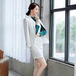 Formal Uniform Styles Women Blazes Business Suits With Tops And Dress For  Ladies Office Work Wear 2019 Spring Fall OL Sets f315daa8e34c