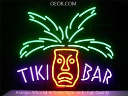 Tiki Lights Australia - 17X14 Inches Tiki Bar Paradise Palm Real Glass Neon Sign Beer Bar Pub Light Handmade Artwork BEST GIFT Fast Shipping