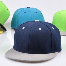 fitted ball caps wholesale Australia - Full close hip hop cap blank whole closure women men's leisure flat brim bill hip hop baseball cap fitted snapback hat