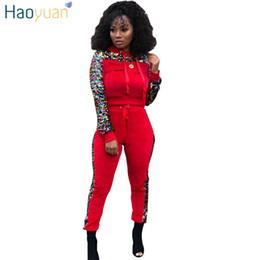 $enCountryForm.capitalKeyWord UK - HAOYUAN Velvet Tracksuit Two Piece Set Women Clothes Long Sleeve Top and Pant Sweat Suit Velour Matching Sets Sexy Club Outfits