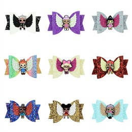 Character Hair Clips Australia - 2019 Surprise Girls Hairpin Baby Sequin Glitter Bow Clips Girl Bowknot Barrette Kids Hair Boutique Bows Children Hair Accessories New A4406