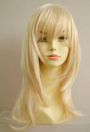 Front Layered Hair Australia - WIG WBY High Quality Long Straight Ash Blonde #613 Layered salon wigs hair no Front queen brazilian made wigs