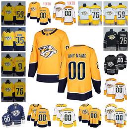 ad4ac410944 Custom Nashville Predato Jersey 35 Pekka Rinne 9 Filip Forsberg 76 PK  Subban 59 Roman Josi 33 Arvidsson Hockey Jerseys Men Women Youth